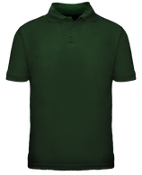 Short Sleeve School Uniform Polo - Hunter Green