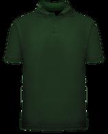 Short Sleeve School Uniform Polo - Hunter Green