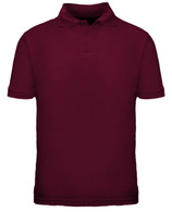 Short Sleeve School Uniform Polo - Burgundy