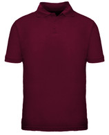 Toddler Short Sleeve School Uniform Polo - Burgundy