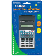 10 - Digit Scientific Calculator with Flip Cover