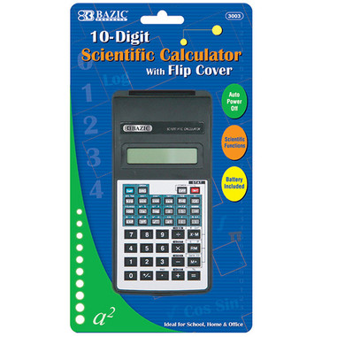 10 - Digit Scientific Calculator with Flip Cover