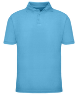 Short Sleeve School Uniform Polo - Light Blue