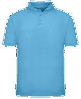 Short Sleeve School Uniform Polo - Light Blue