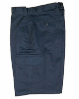 Navy Cargo Pocket Shorts - Side