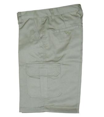 Khaki Cargo Pocket Shorts - Side