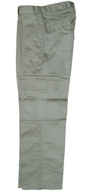 Khaki Cargo Pocket Pants