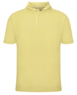 Short Sleeve School Uniform Polo - Yellow