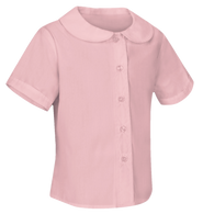 Pink Short Sleeve Peter Pan Blouse