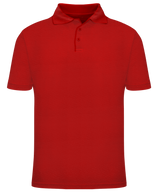Short Sleeve School Uniform Polo - Red