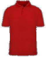 Short Sleeve School Uniform Polo - Red