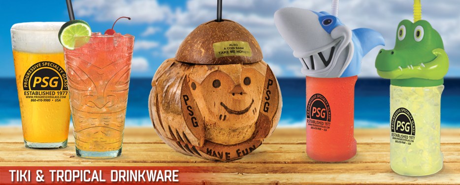 Tiki & Tropical Drinkware