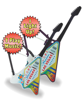 100oz WTLV Light-Up & Sound Plastic Guitar