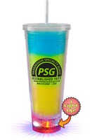 22oz Plastic Light-Up Insulated Tumbler