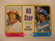 1974 Topps #332 All Star First Basemen Dick Allen & Hank Aaron NRMT