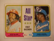 1974 Topps #332 All Star First Basemen Dick Allen & Hank Aaron NRMT