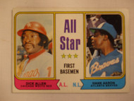 1974 Topps #332 All Star First Basemen Dick Allen & Hank Aaron EX