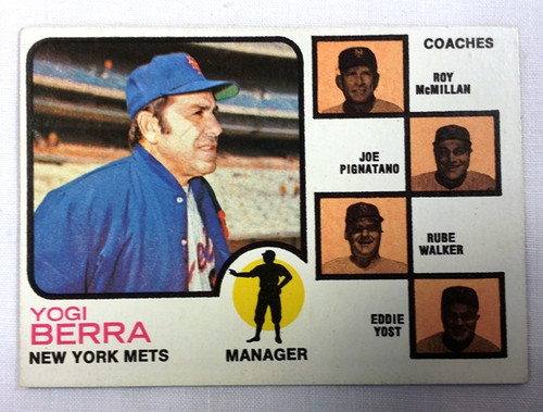 1973 Topps 257 Yogi Berra Mg Orange Exmt