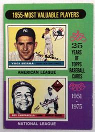 1975 Topps #193 1955 MVPs Yogi Berra & Roy Campanella VG
