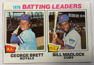 1977 Topps #1 1976 Batting Leaders George Brett & Bill Madlock EX