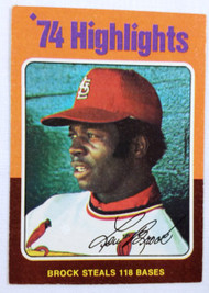1975 Topps #2 '74 Highlights Lou Brock EX