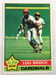 1976 Topps #10 Lou Brock EXMT