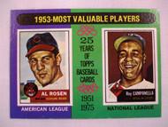 1975 Topps #191 1953 MVPs Al Rosen & Roy Campanella EXMT