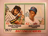 1978 Topps #201 1977 Batting Leaders Dave Parker & Rod Carew EX
