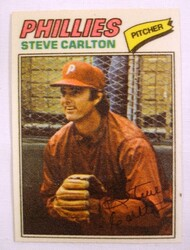1977 Topps Cloth Stickers #11 Steve Carlton NRMT