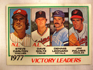 1978 Topps #205 1977 Victory Leaders Steve Carlton, Dave Goltz, Dennis Leonard, Jim Palmer EX