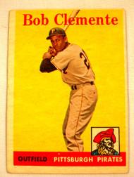1958 Topps #52 Bob Clemente EX