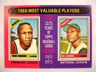 1975 Topps #204 1966 MVPs Frank Robinson & Roberto Clemente VG