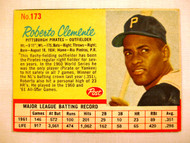 1962 Post #173b Roberto Clemente NRMT Pirates (Red line arount STATS)