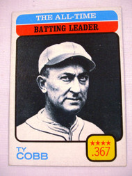 1973 Topps #475 All-Time Batting Leader Ty Cobb EX