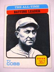1973 Topps #475 All-Time Batting Leader Ty Cobb EX