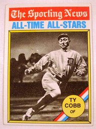 1976 Topps #346 The Sporting News All-Time All-Stars Ty Cobb EX Tigers