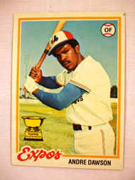 1978 Topps #72 Andre Dawson EX Expos