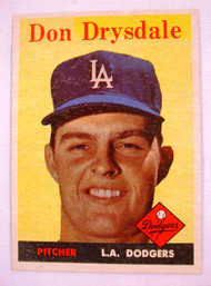 1958 Topps #25 Don Drysdale EXMT Dodgers