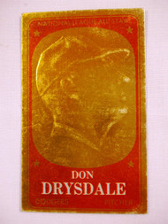 1965 Topps Bronze Embossed #15 Don Drysdale VGEX