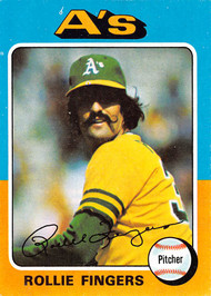 1975 Topps #21 Rollie Fingers EX