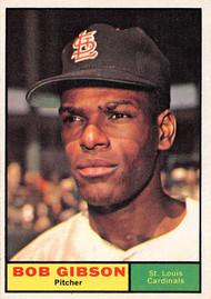 1961 Topps #211 Bob Gibson NRMT Cardinals