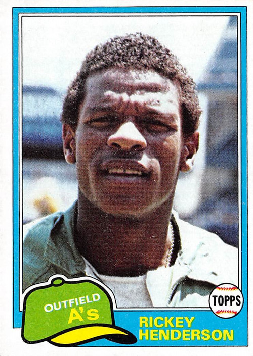 1981 Topps #261 Rickey Henderson NRMT (81T261NRMT)
