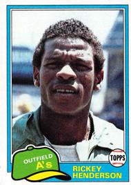 1981 Topps #261 Rickey Henderson EX (81T261EX)