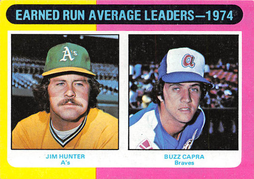 1975 Topps #311 1974 ERA Leaders EX Hunter & Capra (75T311EX)