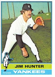 1976 Topps #100 Jim Hunter EX (76T100EX)