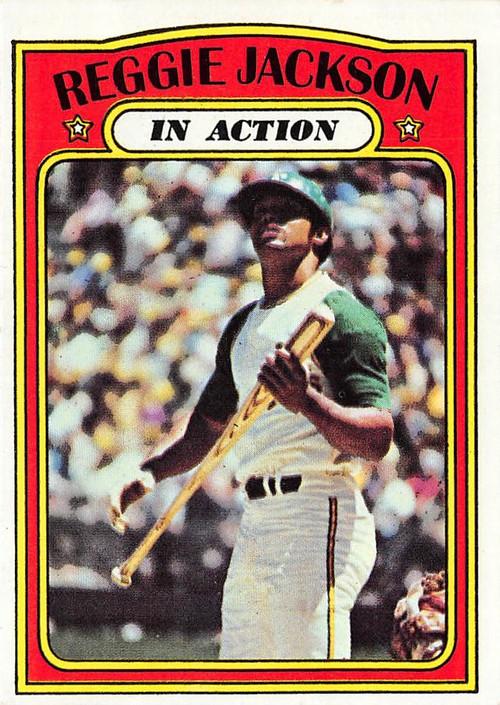 1972 Topps #436 Reggie Jackson (In Action) NRMT (72T436NRMT)