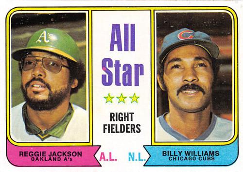 1974 Topps #338 All Star Right Fielders Reggie Jackson & Billy Williams (74T338EXMT)