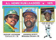 1976 Topps #194 AL HR Leaders VG. R. Jackson, Scott & Mayberry (76T194VG)