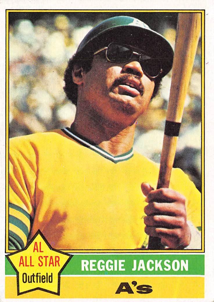 1976 Topps 500 Reggie Jackson Ex