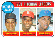 1969 Topps #10 1968 NL Pitching Leaders EX Marichal, Gibson, Jenkins. (69T10EX)